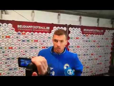 Edin Džeko nakon utakmice u Belgiji