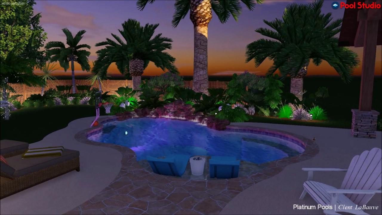 platinum pools hamilton pool design by clent labauve youtube