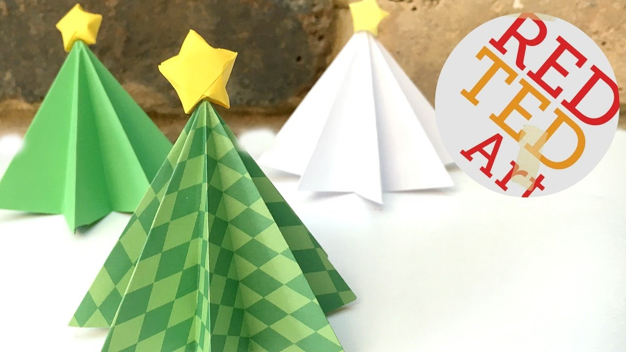 Origami Christmas Tree DIY - 3D Paper DIYs - Christmas ...