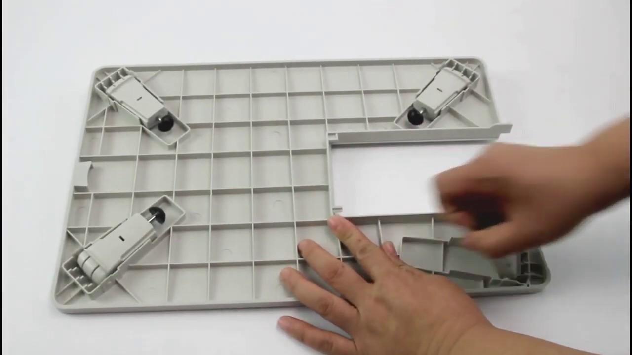 Table A Machine A Coudre installer la table d'extension - machine à coudre necchi q132a