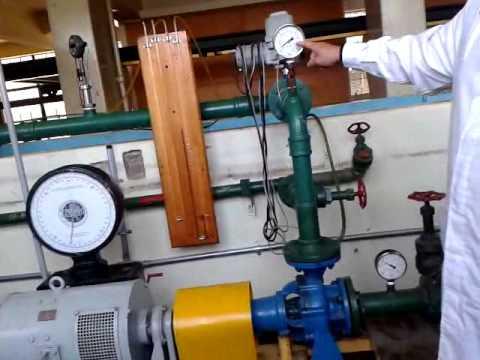Laboratorio de turbomaquinas  UTFSM , Ensayo de curvas características Bomba centrifuga .