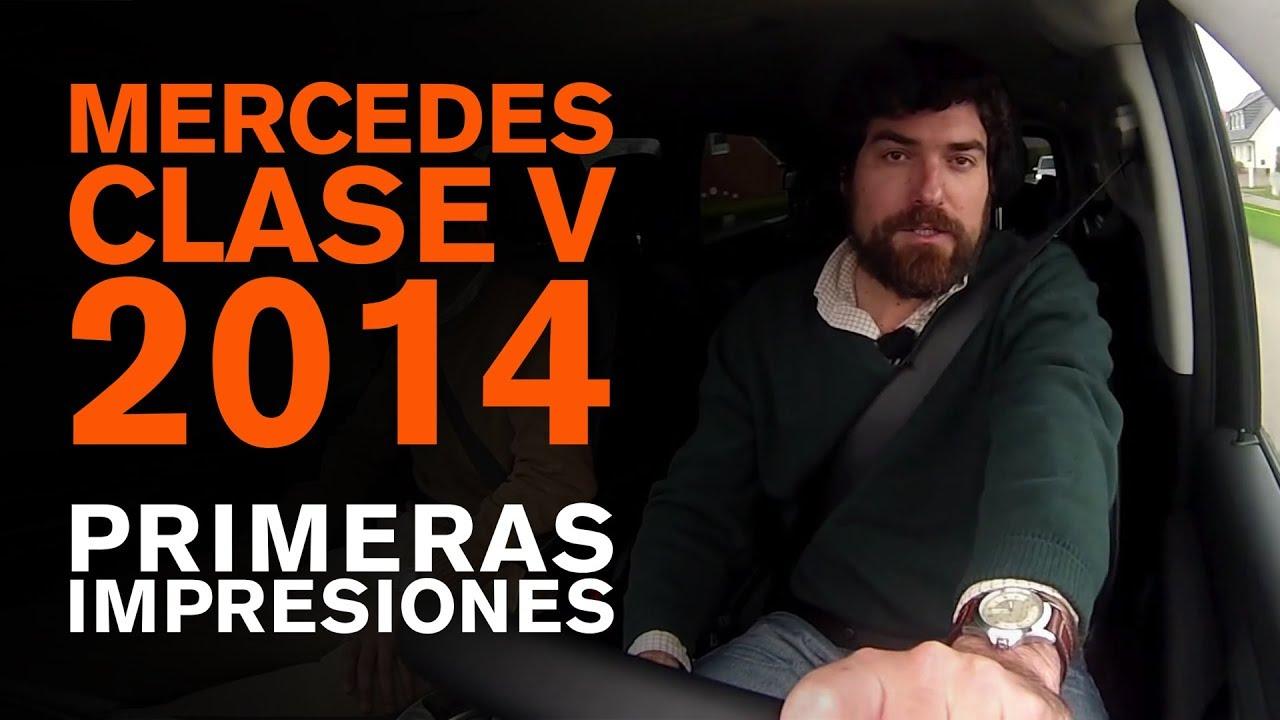 Presentación nuevo monovolumen Mercedes Clase V, abril 2014 - YouTube