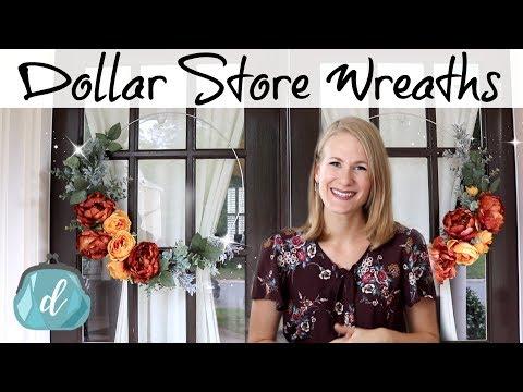 Cheaper than Dollar Tree Hoop Wreaths! 🙌 🍂 Fall & Winter DIY