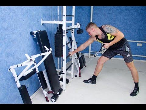Усиленная шведская стенка с блочным тренажером - многофункциональный тренажер для дома