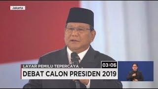 Closing Statement Prabowo: Biarlah Rakyat yang Menentukan