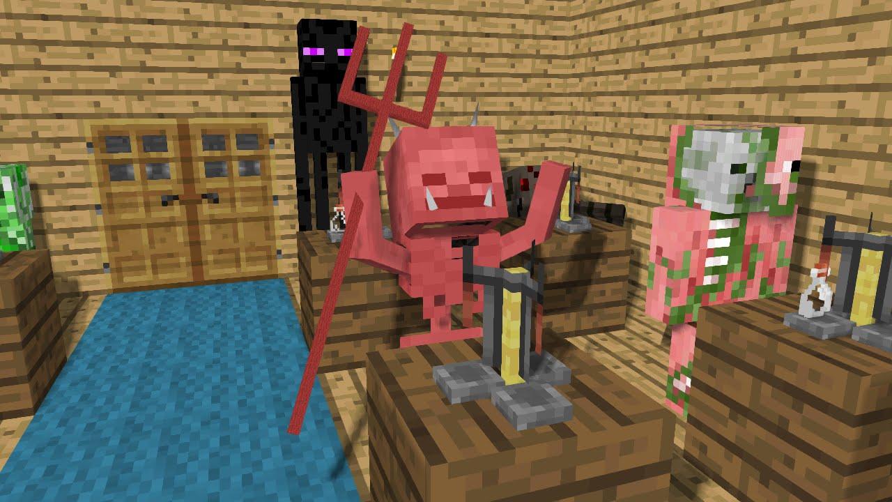 Monster School Brewing Minecraft Animation YouTube - Minecraft school spielen