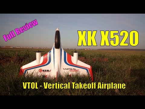 XK X520 Fighter Brushless VTOL Vertical Takeoff Plane - Full