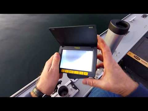 Scouting Ice Fishing Spots Using Boat Fish Locator And Underwater Camera (Bass Bluegills)