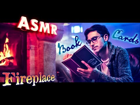 [ASMR] Book PAGE TURNING 📖Playing CARDS 🃏by the FIREPLACE 🔥NO TALKING