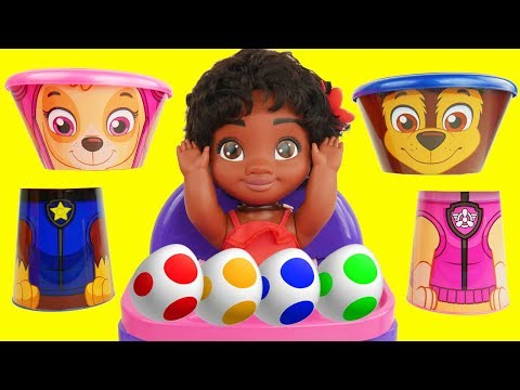 Paw Patrol Skye & Chase Ouchie Doc McStuffins Ambulance with Gumballs Surprise Eggs   Sparkle Spice