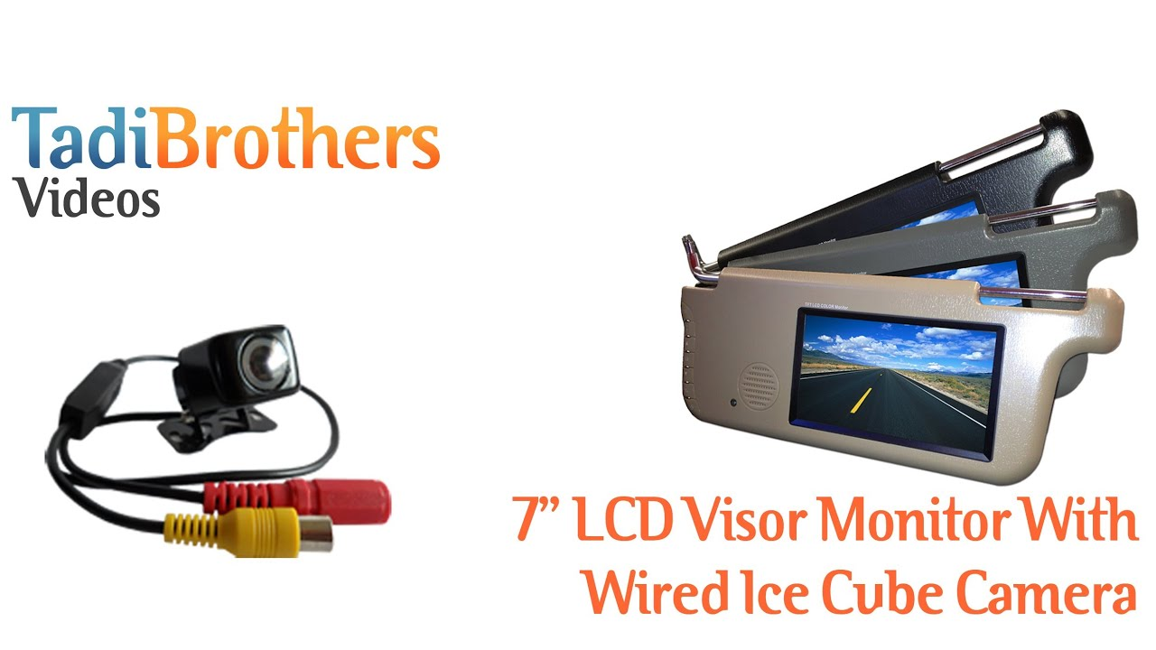 Visor monitor with Wired Ice Cube Camera for Backup Camera Systems ...