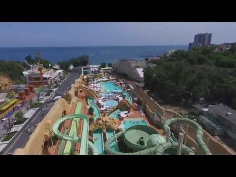 Аквапарк Гаваи в Одессе с высоты  /  Hawaii Water Park in Odessa from a height