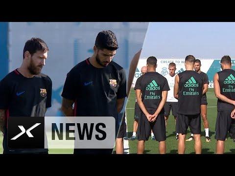 Nach Anschlag: FC Barcelona und Real Madrid gedenken Opfern   LaLiga