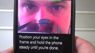 Обзор Microsoft Lumia 950 XL - Windows Hello - вход пользователя по распознаванию глаз Iris