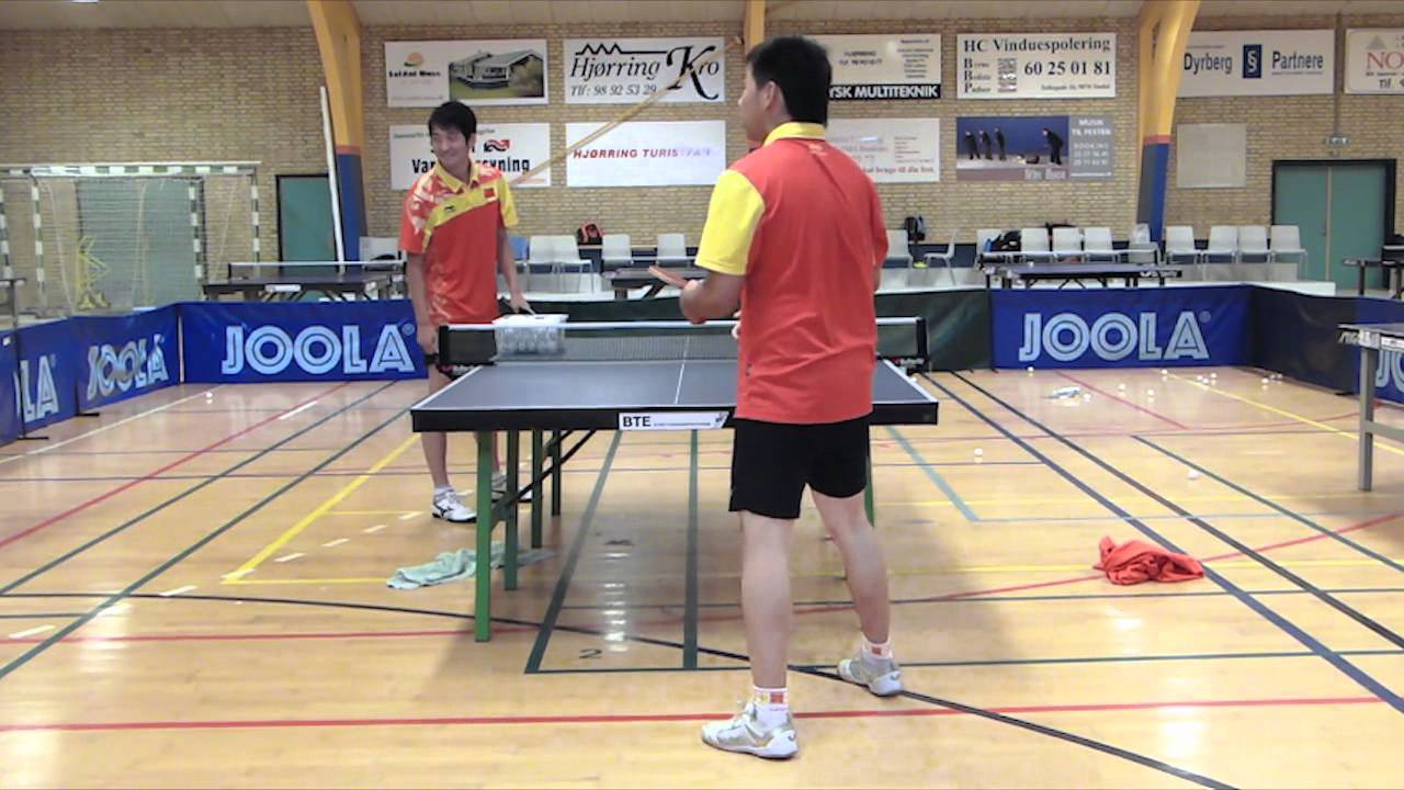 Table Tennis - Chinese Footwork Part 1 - Forehand From Half Table