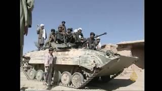 أرشيف- انسحاب طالبان من مزار شريف بعد القصف الأميركي
