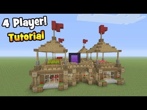 """Minecraft Tutorial: How To Make A 4 Player Survival Base - 2 """"With Everything You Need To Survive"""""""