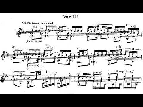 Alexandre Tansman - Variations on a Scriabin Theme, for guitar (Score video)