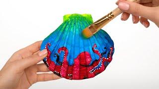 How To Make Amazing Decorated Seashells 🐚🎨