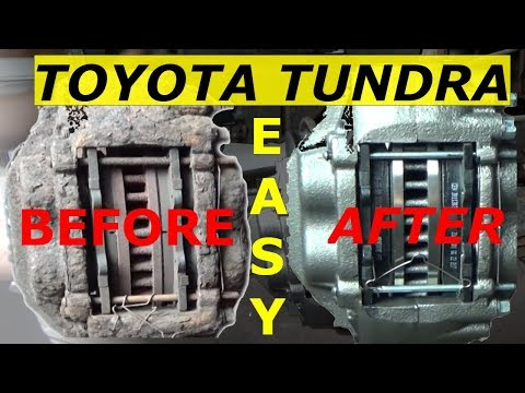 Front Brakes Calipers and Rotors - Toyota Tundra