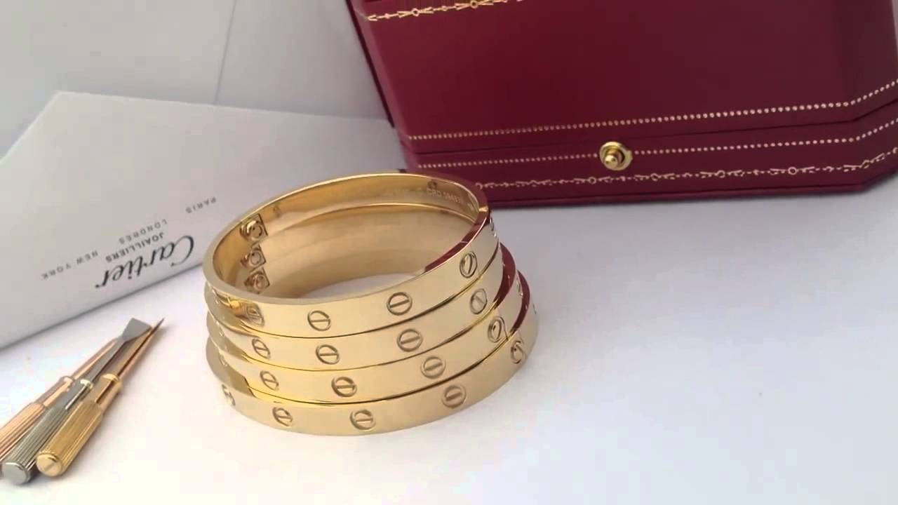 Cartier Love Bracelet Yellow Gold Size