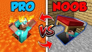 Minecraft NOOB vs. PRO : SWAPPED SECRET ENTRANCE in Minecraft (Compilation)