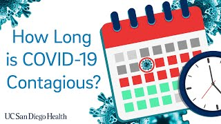 How Long Are You Contagious with COVID-19? | UC San Diego Health