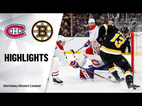 NHL Highlights | Canadiens @ Bruins 12/01/19