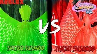 Roblox - Shinobi Life | Shisui Susanoo VS Itachi Susanoo | KG Battles