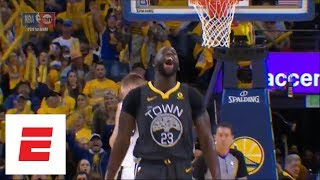 Draymond Green gets flagrant 1, then celebrates when free throw is missed | ESPN thumbnail