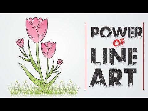 CorelDraw x7  Tutorial - Make a Flower Vector Sketch using   line art thumbnail