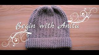 tutorial 94- cap knitting for beginners, बड़ों के लिए आसान टोपी बुनाई।
