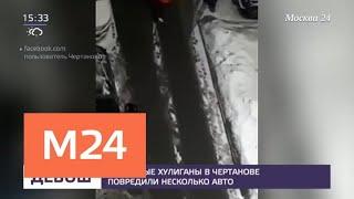 Смотреть видео Нетрезвые хулиганы в Чертанове повредили несколько авто - Москва 24 онлайн