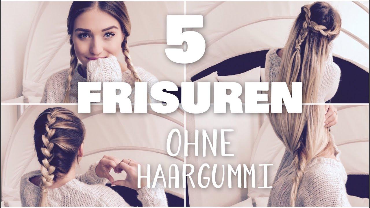 5 Easy NOTFALL FRISUREN OHNE HAARGUMMI Perfekt Für Schule