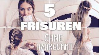 5 easy NOTFALL - FRISUREN OHNE HAARGUMMI | perfekt für Schule & unterwegs ♥ BibisBeautyPalace