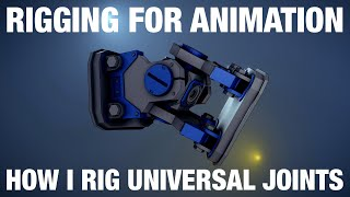 Universal Joint Rig and Locked Track Constraint | Blender Rigging For Animation