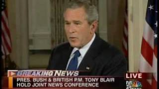 "Bush Regrets Saying ""Bring"