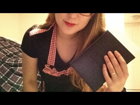 ASMR Waitress Role Play - Soft Spoken, Tapping,  Some Visual Triggers (hand / object movement)