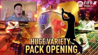 FIFA Mobile BIGGEST VARIETY PACK OPENING! 50x PACKS ft. 6 ELITES! CLUB CHAMPIONS, TEAM HEROES, MORE