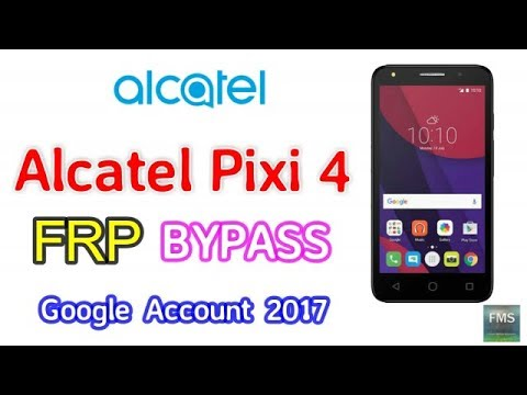 Alcatel Pixi 4 5010U FRP Lock Remove Google Account Bypass New Method 10...