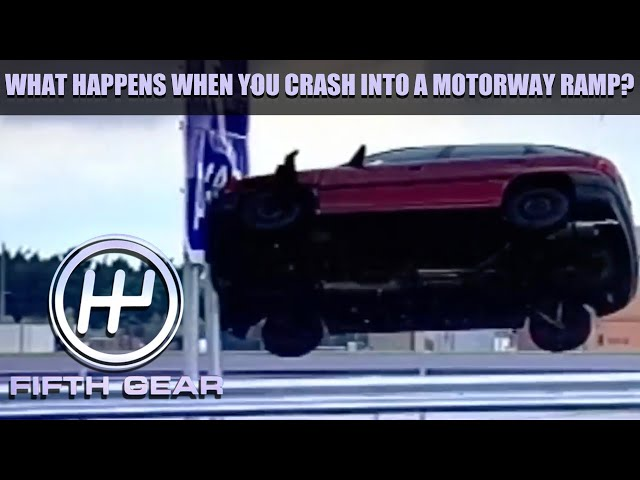 What happens when you crash into a Motorway ramp? | Fifth Gear