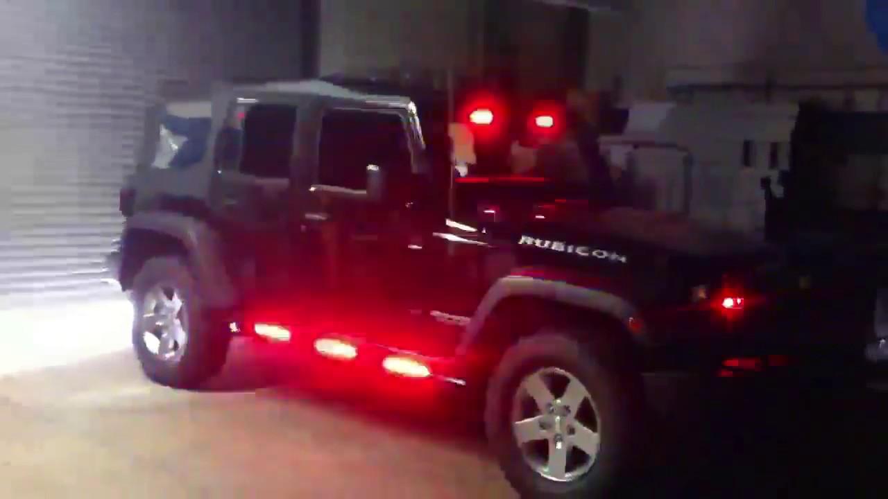Led Grill Lights >> HG2 Emergency Lighting | Jeep Wrangler - YouTube