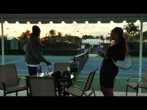 Baltimore Ravens Bryant McKinnie Tennis Lesson With Venus Williams [User Submitted]