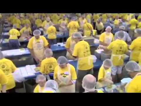 Des Moines Metro Rotary Clubs and The Outreach Program Meal Packaging Event