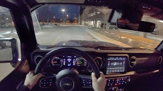 2019 Jeep Wrangler Unlimited Sahara 4dr 4x4 - POV Night Drive (Binaural Audio)
