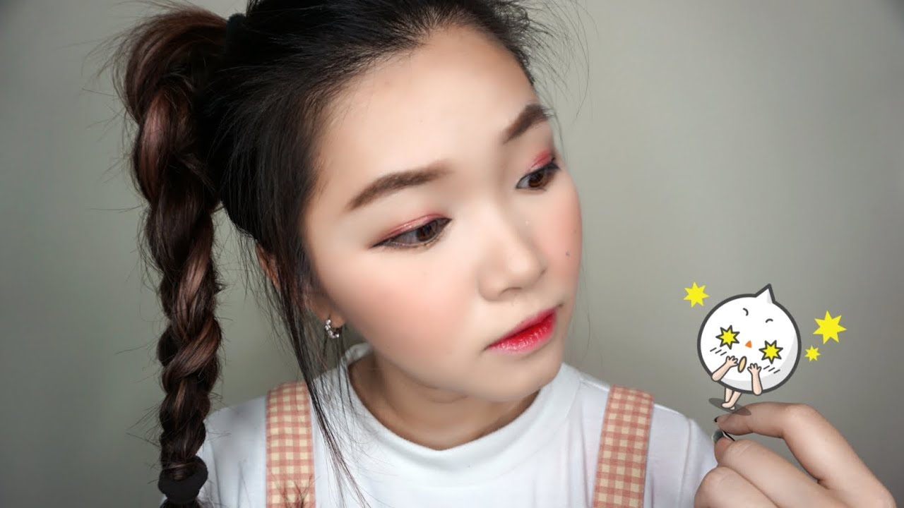 Peach Orenji Eyes Color For Summer Makeup Tutorial Ft Style Korean