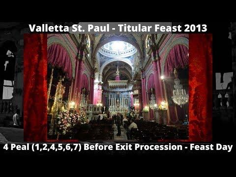 Valletta St. Paul - Feast St. Paul 2013 - 4 Peals - 6 Bells / 26