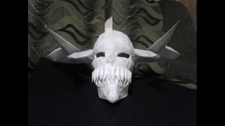 Ichigo full hollow mask from pepakura [ step by step, Part III head and horns ]