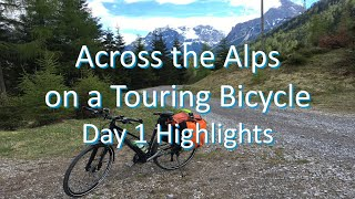 Across the Alps on a Touring Bicycle - Day 1 Highlights (Fuessen to Lake Garda)