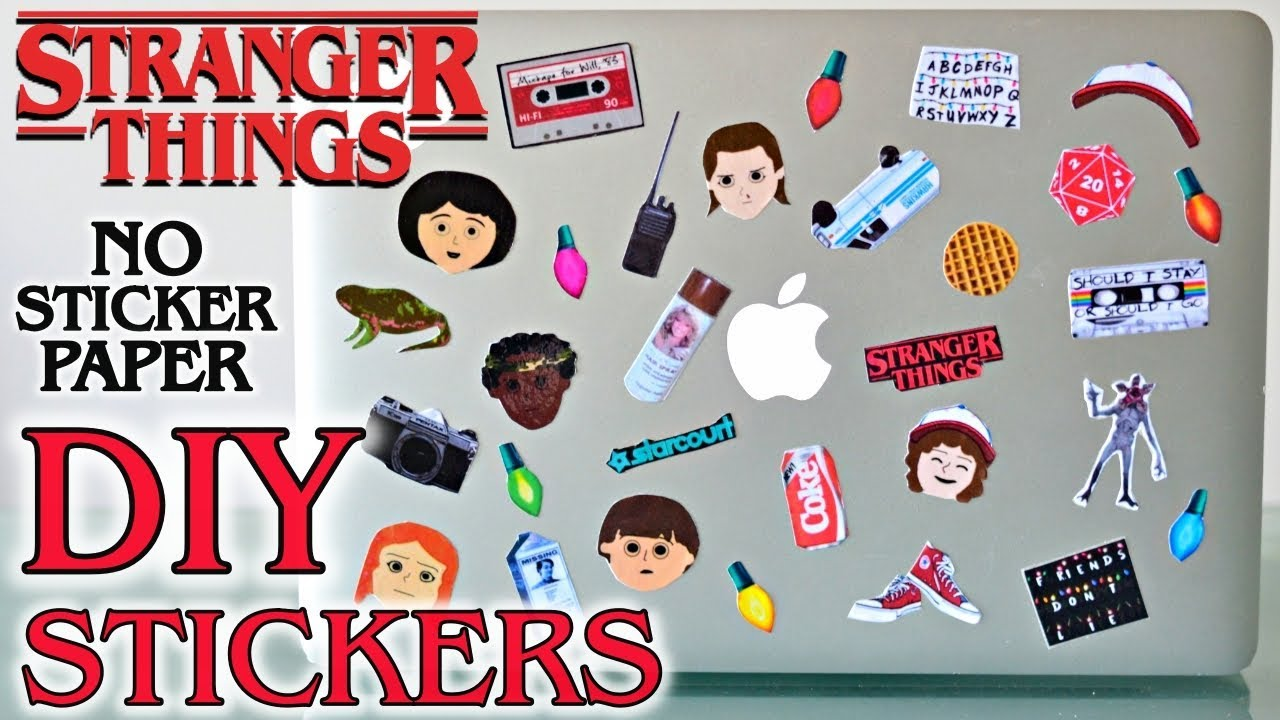 Diy Stranger Things Back To School Stickers Without Sticker Paper